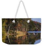 Tuxedo Lake Autumn Weekender Tote Bag
