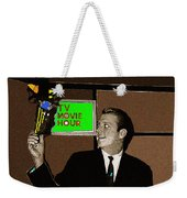 Tv Movie Hour Jake Crellin Kvoa Tv 1962 Sepia Toned Color Drawing Added 2009 Weekender Tote Bag