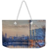 Tv Tower Sunset Weekender Tote Bag