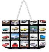 Twenty Corvettes Weekender Tote Bag