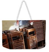 Twenty-five Folded Chairs Weekender Tote Bag