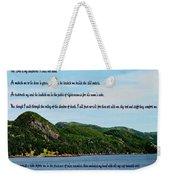 Twenty Third Psalm And Mountains Weekender Tote Bag