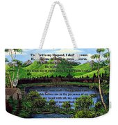 Twenty-third Psalm And Twin Ponds Weekender Tote Bag
