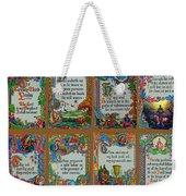 Twenty Third Psalm Collage Weekender Tote Bag