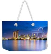 Twilight In Singapore Weekender Tote Bag by Ulrich Schade