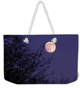 Twilight Moon Weekender Tote Bag by Rona Black