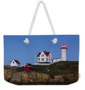 Twilight Nubble Lighthouse Weekender Tote Bag