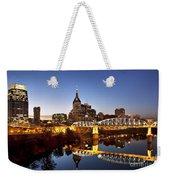 Twilight Over Nashville Tennessee Weekender Tote Bag by Brian Jannsen