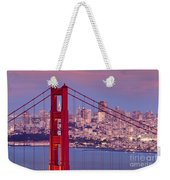 Twilight Over San Francisco Weekender Tote Bag