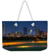 Twilight Skyline Weekender Tote Bag