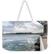 Twin Bridges Over Blue Water Weekender Tote Bag