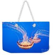 Twin Dancers - Large Colorful Jellyfish Atlantic Sea Nettle Chrysaora Quinquecirrha  Weekender Tote Bag