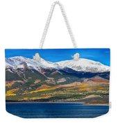 Twin Lakes Colorado Autumn Panorama Weekender Tote Bag