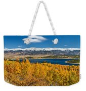 Twin Lakes Colorado Autumn Snow Dusted Mountains Weekender Tote Bag by James BO  Insogna