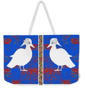 Twin Souls Love Birds Snow White Color Weekender Tote Bag