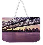 Twins Bridge Over A River, Crescent Weekender Tote Bag