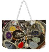 Twisted Button Weekender Tote Bag
