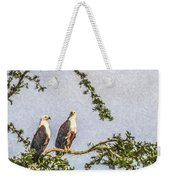 Two African Fish Eagles Haliaeetus Vocifer  Weekender Tote Bag