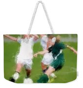 Two Against One Expressionist Soccer Battle  Weekender Tote Bag