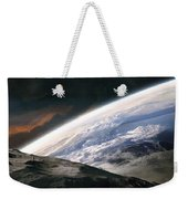 Two Astronauts Exploring A Moon Weekender Tote Bag