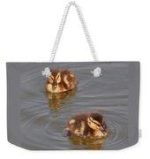 Two Baby Ducklings Weekender Tote Bag