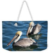 Two Beautiful Pelicans Weekender Tote Bag