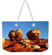 Two Big Rocks At Capital Reef Weekender Tote Bag by Jeff Swan