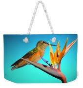 Two Birds Of Paradise Weekender Tote Bag
