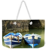 Two Blue Fishing Boats Weekender Tote Bag