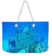 Two Blue Tang On A Ship Wreak Weekender Tote Bag