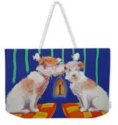 Two Border Terriers Together Weekender Tote Bag