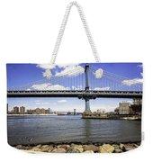 Two Bridges View - Manhattan Weekender Tote Bag
