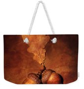 Two Brown Acorns Weekender Tote Bag