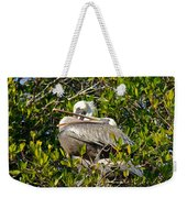 Two Brown Pelicans Weekender Tote Bag