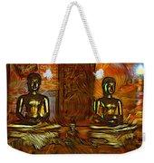 Two Buddhas Weekender Tote Bag