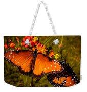 Two Butterflies Weekender Tote Bag