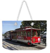 Two Cable Cars San Francisco Weekender Tote Bag