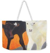 Two Calves Weekender Tote Bag