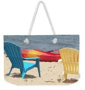 Two Chairs And A Boat Weekender Tote Bag