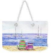 Two Chairs On The Beach Weekender Tote Bag