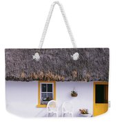 Two Chairs Outside A Cottage, County Weekender Tote Bag