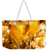 Two Champagne Glasses Ready To Bring In The New Year Weekender Tote Bag