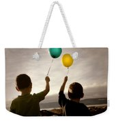 Two Children With Balloons Weekender Tote Bag