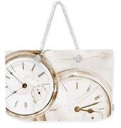 Two Clocks Weekender Tote Bag