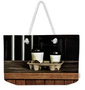 Two Coffees And A Muffin To Takeaway Weekender Tote Bag