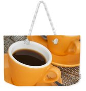 Two Cups Of Espresso Weekender Tote Bag