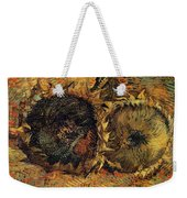 Two Cutted Sunflowers Weekender Tote Bag