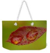 Two Droplets On A Leaf  Weekender Tote Bag