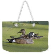 Two Ducks Passing By Weekender Tote Bag