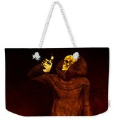 Two Faces Of Death Weekender Tote Bag by Bob Orsillo